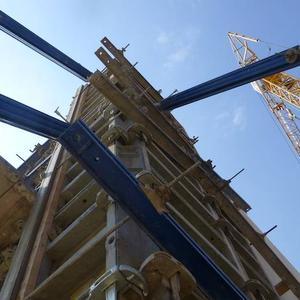 Baustelle von unten
