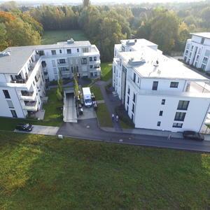 Wohnungsgebäude von oben